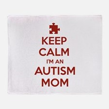 Keep Calm I'm An Autism Mom Stadium Blanket