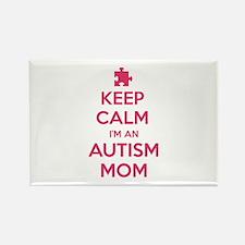 Keep Calm I'm An Autism Mom Rectangle Magnet