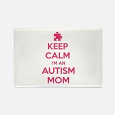 Keep Calm I'm An Autism Mom Rectangle Magnet (10 p