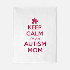 Keep Calm I'm An Autism Mom Twin Duvet