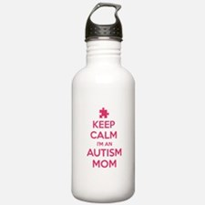 Keep Calm I'm An Autism Mom Water Bottle