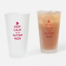 Keep Calm I'm An Autism Mom Drinking Glass