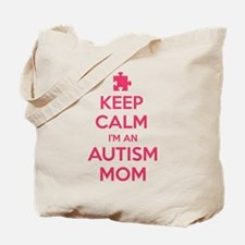 Keep Calm I'm An Autism Mom Tote Bag