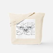 Bat Skull Biker Babe Tote Bag
