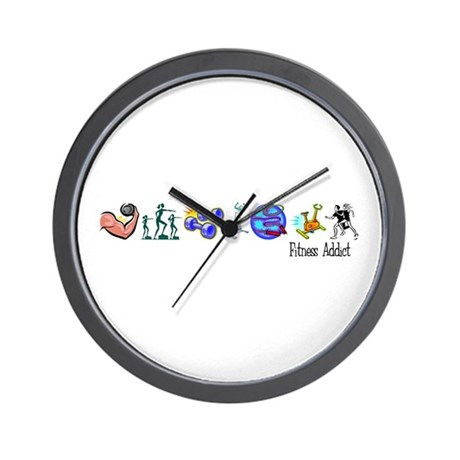 Fitness Addict Wall Clock