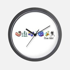 Fitness Addict Wall Clock