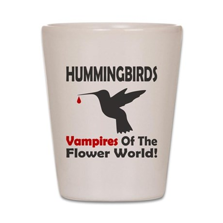 Hummingbirds Vampires Shot Glass