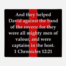 1 Chronicles 12:21 Throw Blanket