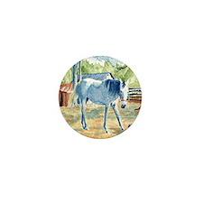 My Blue Horse Mini Button