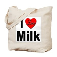 I Love Milk Tote Bag