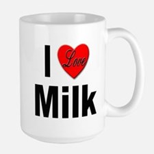 I Love Milk Large Mug