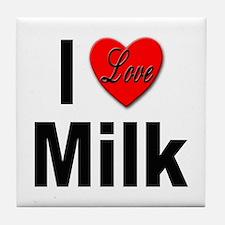 I Love Milk Tile Coaster