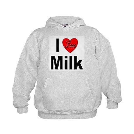 I Love Milk (Front) Kids Hoodie