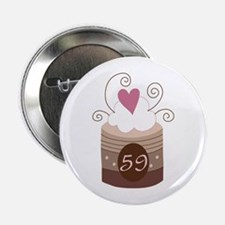 "59th Birthday Cupcake 2.25"" Button"