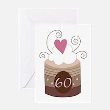 60th Birthday Cupcake Greeting Card