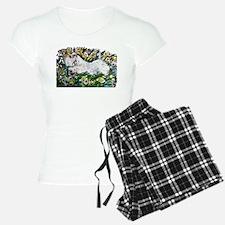 Sealyham in Daffodils Pajamas