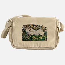 Sealyham in Daffodils Messenger Bag