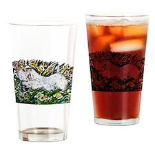 Sealyham in Daffodils Drinking Glass