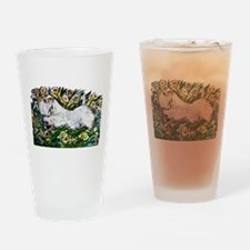 Sealyham in Daffodils Drinking Glass