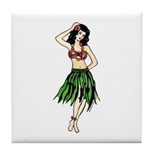 Hula Girl Tile Coaster