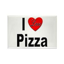 I Love Pizza Rectangle Magnet