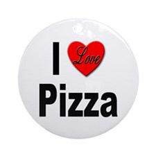 I Love Pizza Ornament (Round)