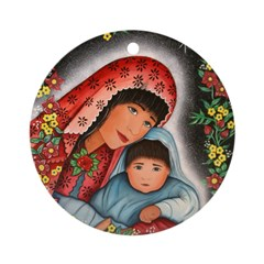 Virgin Mary Baby Jesus Ornament (Round)