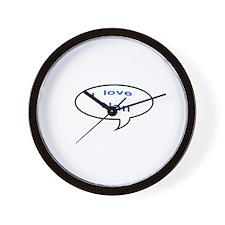 I Love Nan Wall Clock