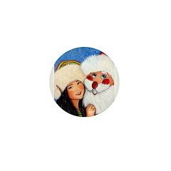 Dancing with Santa Mini Button