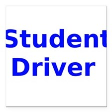 "Student Driver Square Car Magnet 3"" x 3"""