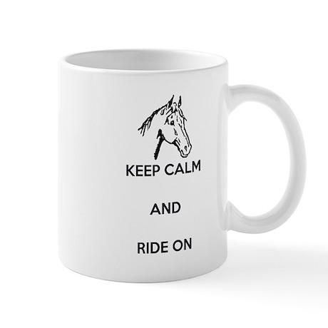 Keep Calm and Ride On, Horse Head Mug