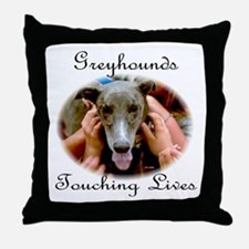 GREYHOUNDS TOUCHING LIVES Throw Pillow
