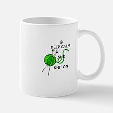 Keep Calm and Knit On Mug