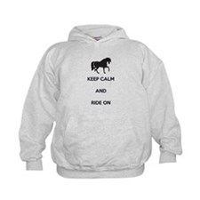 Keep Calm and Ride On, Horse Hoodie