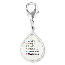 AUTISM Silver Teardrop Charm