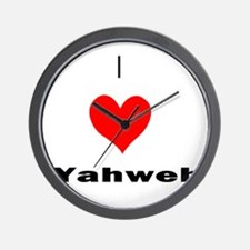 I heart Yahweh Wall Clock