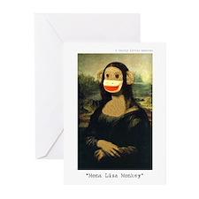 Mona Lisa Monkey Greeting Cards (Pk of 10)