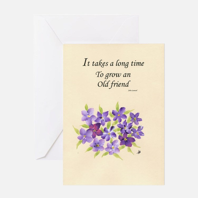 Poetry of an Old Friend Greeting Card