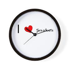 I heart Snakes Wall Clock