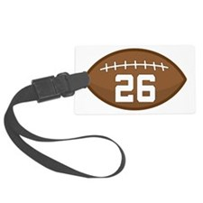 Football Player Number 26 Luggage Tag