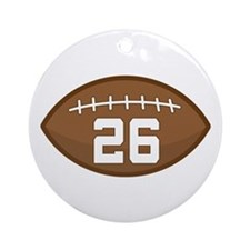 Football Player Number 26 Ornament (Round)