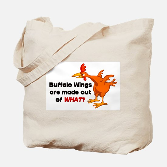 Buffalo Wings are made out of what? Tote Bag