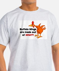 Buffalo Wings are made out of what? Ash Grey T-Shi