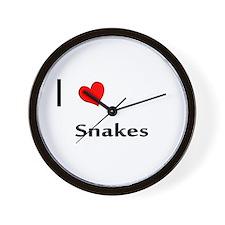 I heart my Snakes Wall Clock