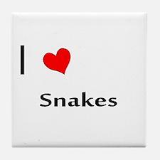 I heart my Snakes Tile Coaster