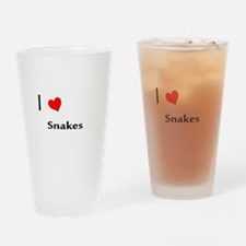 I heart my Snakes Drinking Glass