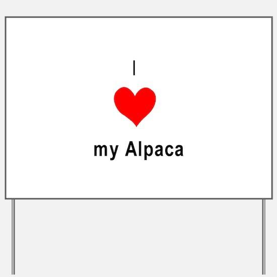 I heart my Alpaca Yard Sign