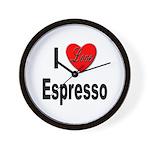 I Love Espresso Wall Clock