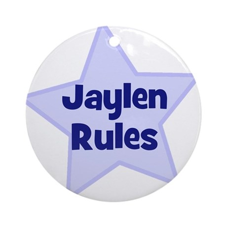 Jaylen Rules Ornament (Round)
