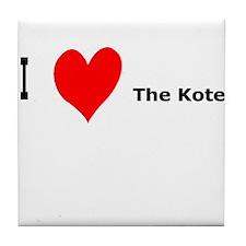 I heart Kotel Tile Coaster